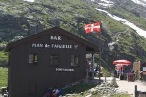 Inici de la marxa desde el Plan de l'Aiguille, l'estació intermitja del teleferic de l'Agulle de Midi